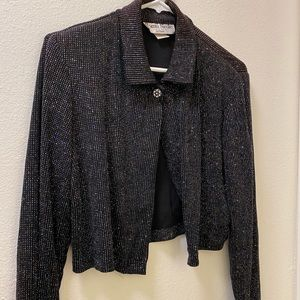 Ronnie nicole sparkly cardigan/over top